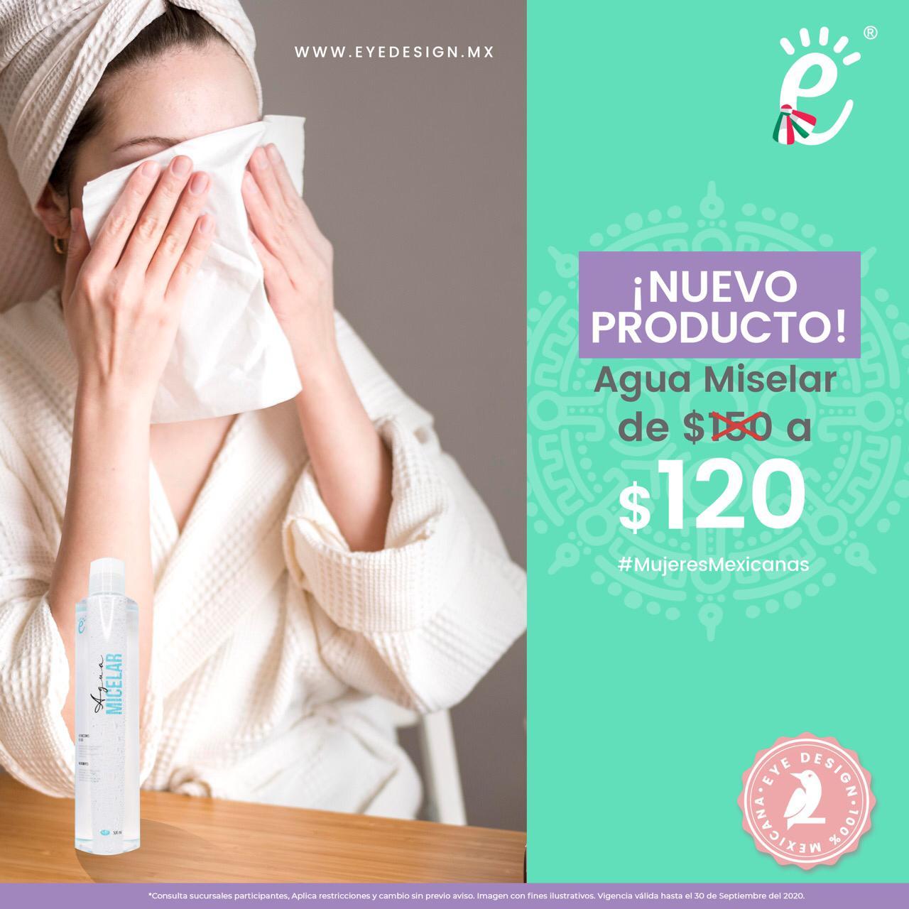 promocion deproducto agua micelar de 150 a 120
