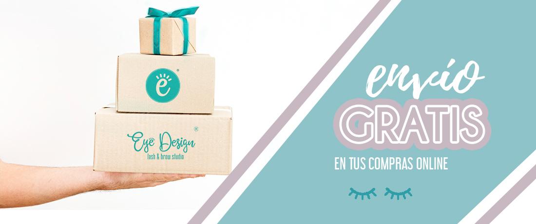 Envios gratis en la tienda de eyedesign, maquillaje, aftercare, extensiones de pestañas
